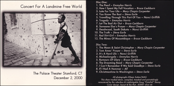 Concert For A Landmine Free World - Bruce Cockburn w/friends 2000
