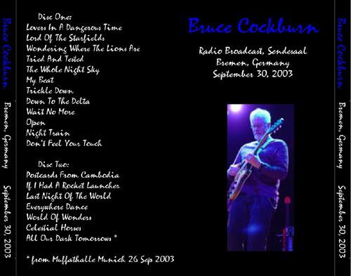 Bruce Cockburn & Julie Wolf - Bremen, Germany 30September2003
