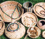 Peyote Tube Beaded Necklaces and Baskets by bobbi