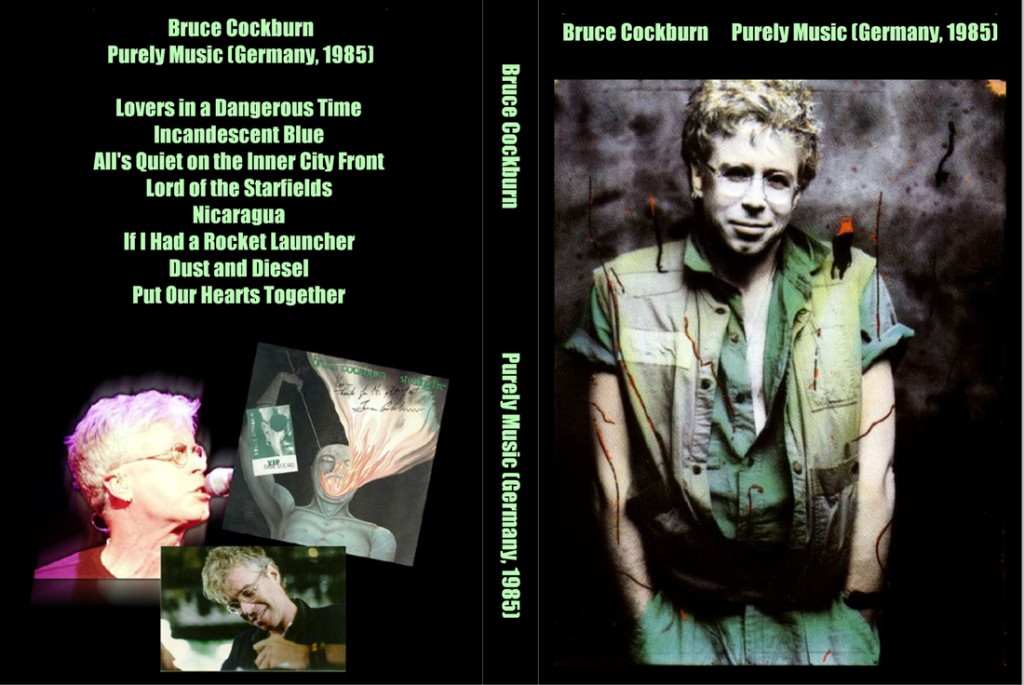 Bruce Cockburn 1985 Purely Music DVD cover art